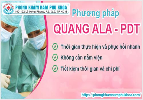Một số ưu điểm của phương pháp ALA-PDT