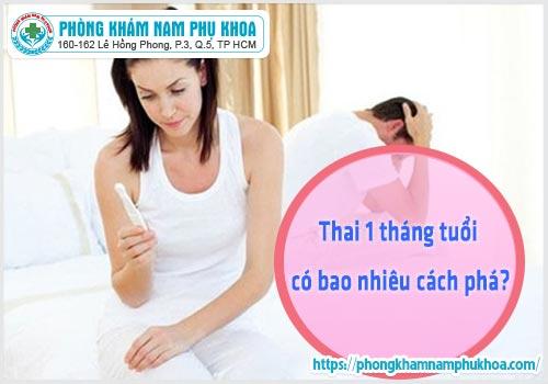 Thai 1 tháng tuổi có bao nhiêu cách phá