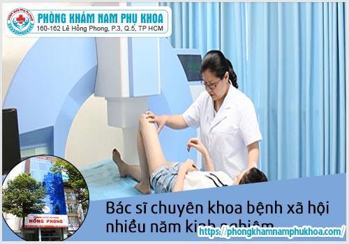 Đội ngũ y bác sĩ tay nghề cao tại phòngxét nghiệmbệnh xã hội HồngPhong