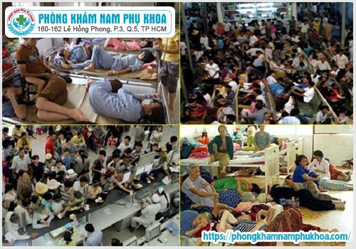 Tình trạng quá tải tại các bệnh viện lớn ở TPHCM