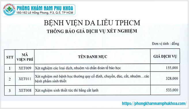 bang-gia-xet-nghiem-sui-mao-ga-tai-benh-vien-da-lieu